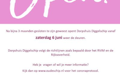 Dorpshuis Oudeschip weer beperkt open