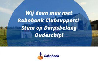 Stem op Vereniging Dorpsbelangen Oudeschip met Rabo Clubsupport